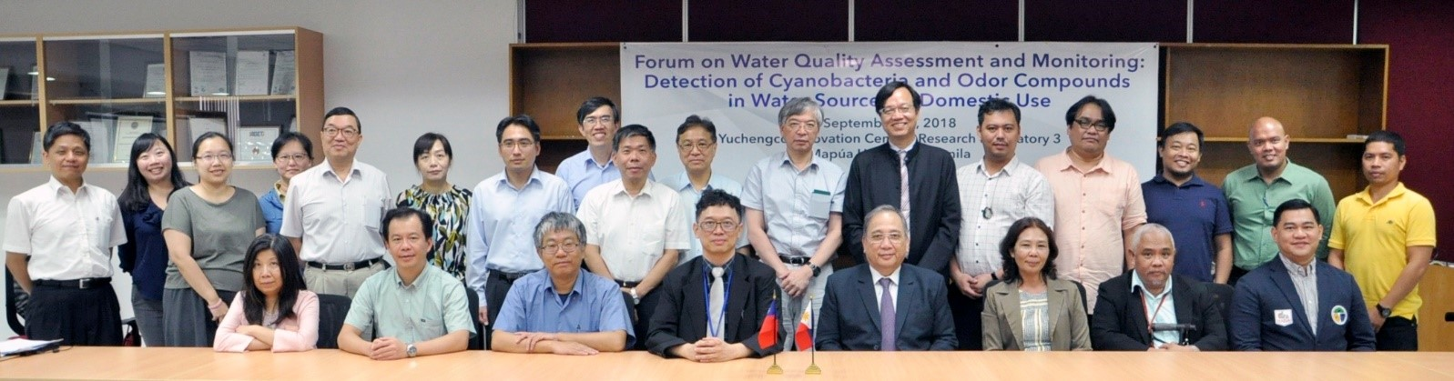 The group photo of forum on water quality assessment and monitoring.