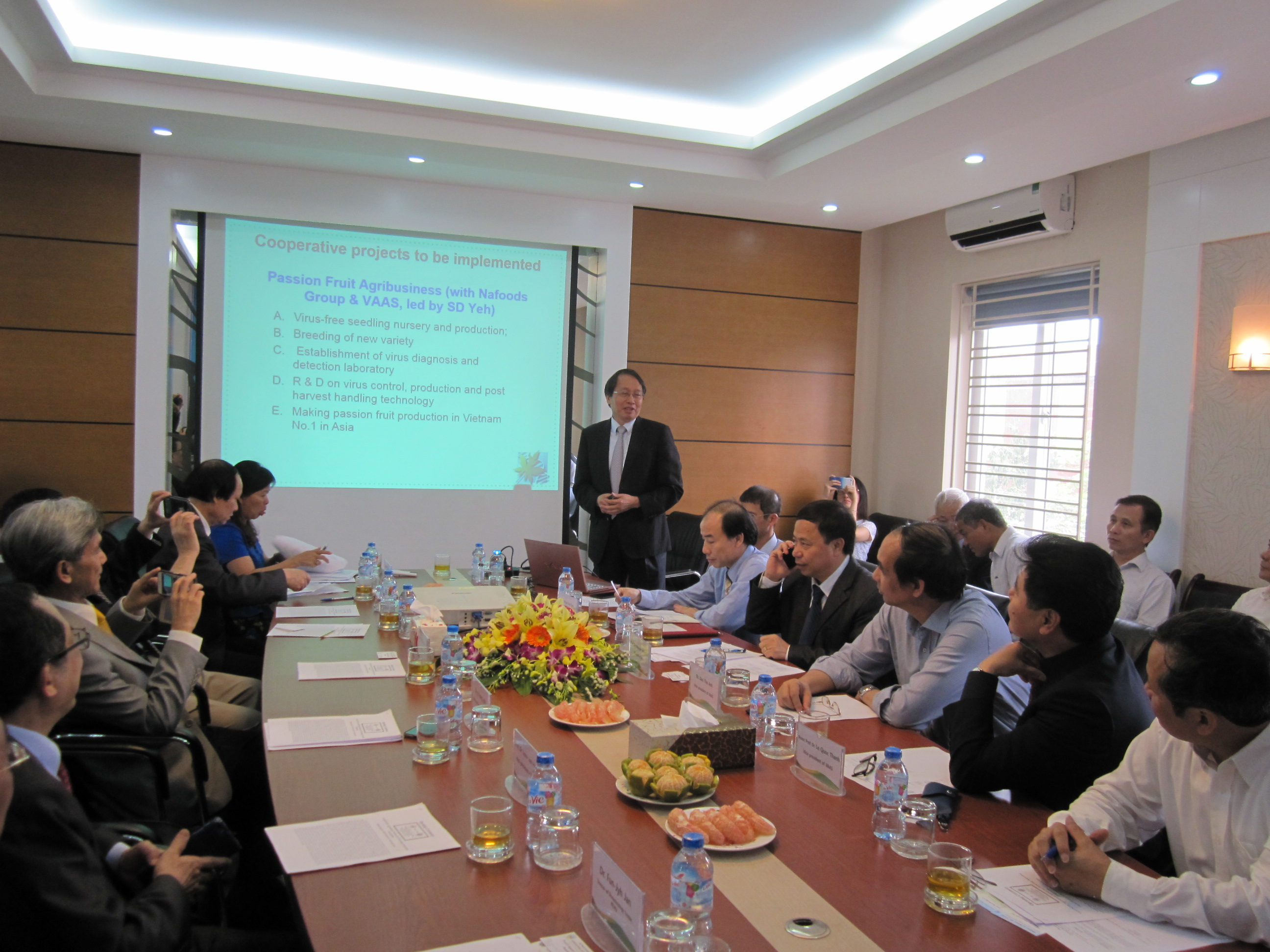 Prof. Shyi-Dong Yeh, the host of program, explains the mission of ASTIC