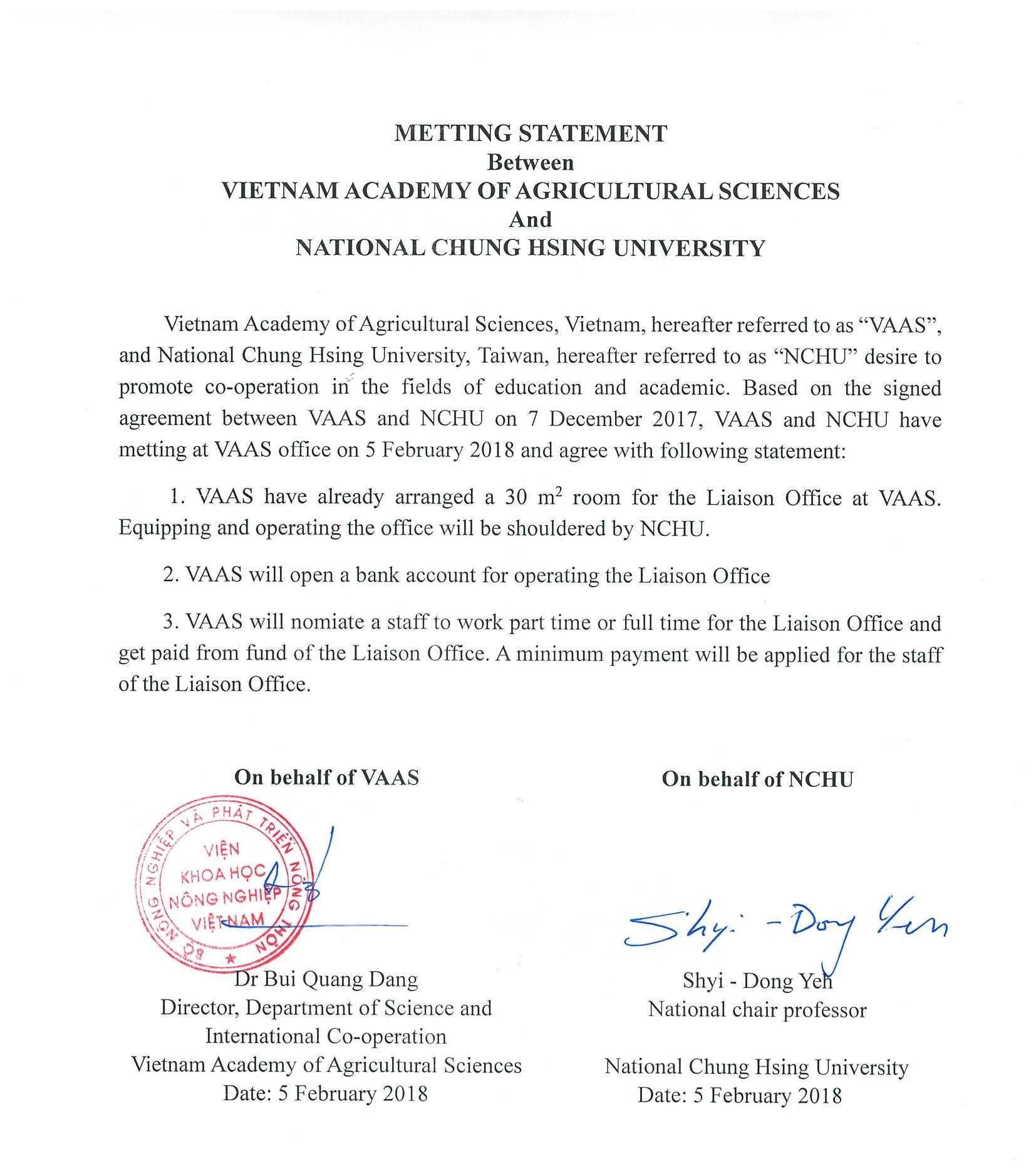 Consent letter signed for VAAS-NCHU ASTIC.
