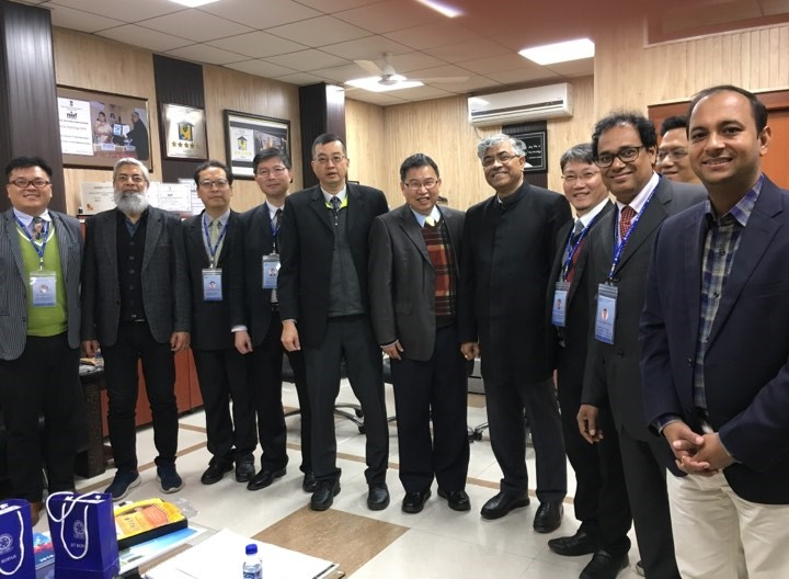"National Chung Cheng University delegation met with the Indian Institute of Technology (IIT) Ropar for establishing the ""Indo-Taiwan Joint Research Center on Artificial Intelligence"" (photo includes: Dr. Sarit K. Das, director of IIT Ropar)"