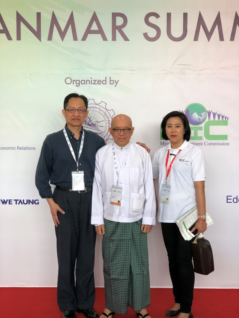 NCNU representative attended the first Investment Myanmar Summit hosted by UMFCCI.