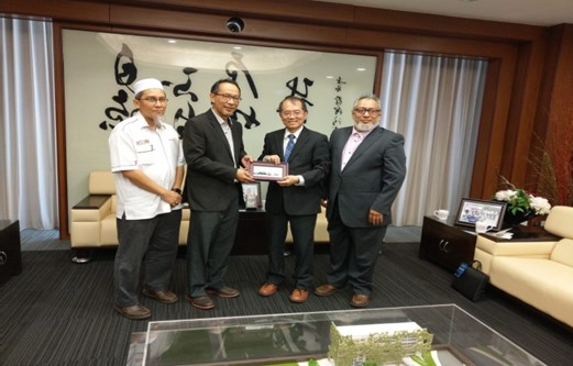 The representatives from UTM, UniMAP and IIUM visited NTHU