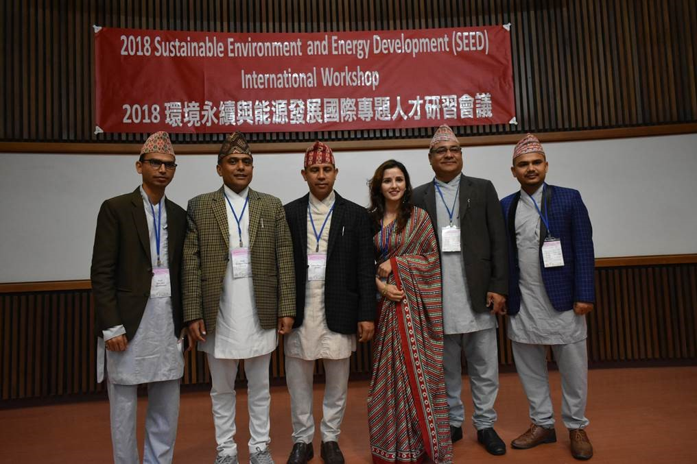 Photo of the representatives from Nepal to attend the Sustainable Environment and Energy Development Workshop.