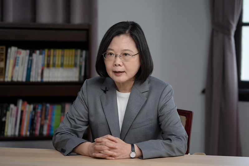 President Tsai addresses Taiwan's diplomatic, security, and economic challenges at videoconference jointly sponsored by US-based think tanks's picture