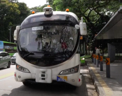 Singapore launches self-driving bus trials's picture
