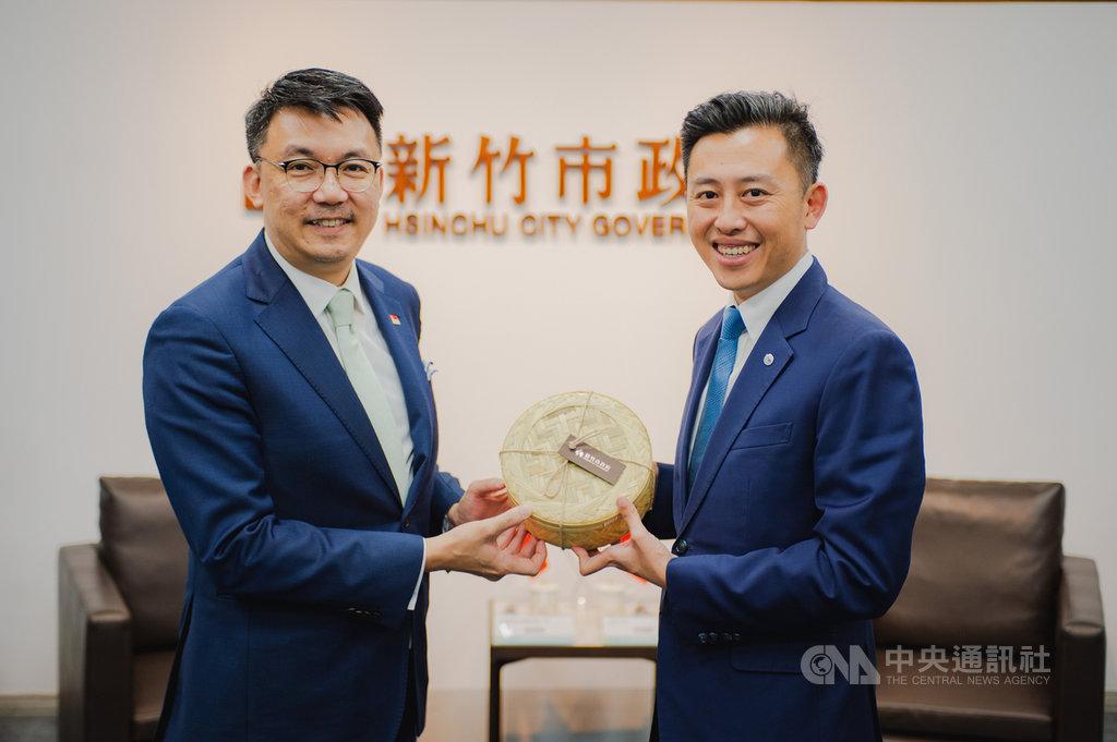 新加坡駐台代表訪林智堅 交流防疫與新創產業的標題圖片