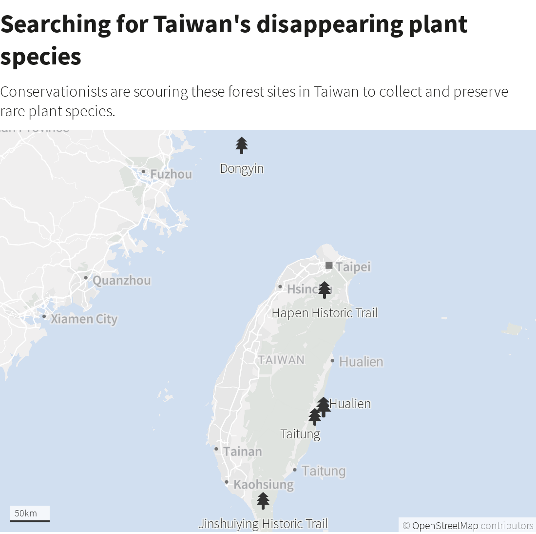 Taiwan plant hunters race to collect rare species before they're gone's picture