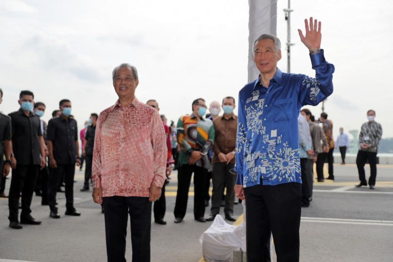 Singapore, Malaysia hold ceremony at Causeway to mark resumption of RTS Link project's picture