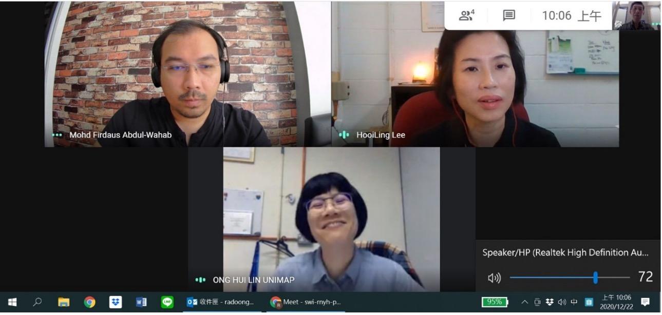 圖9:臺馬雙方研究團隊定期進行視訊會議