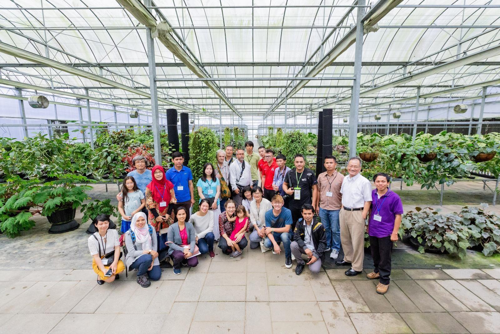 來自東南亞各國,參與〈國際薑類植物研習班〉的講師與學員們