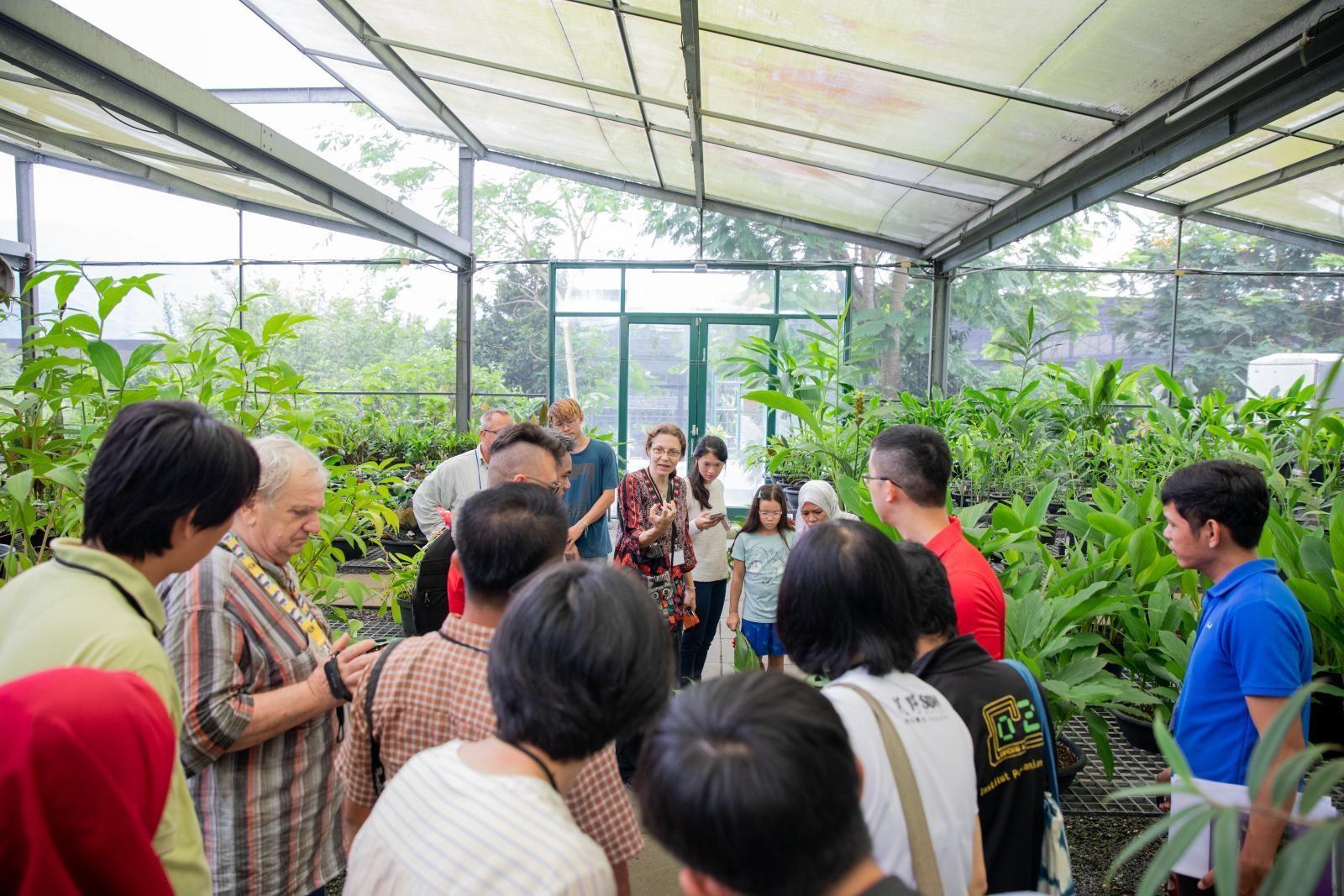 〈國際薑類植物研習班〉在KBCC溫室中實地講解薑類植物辨識