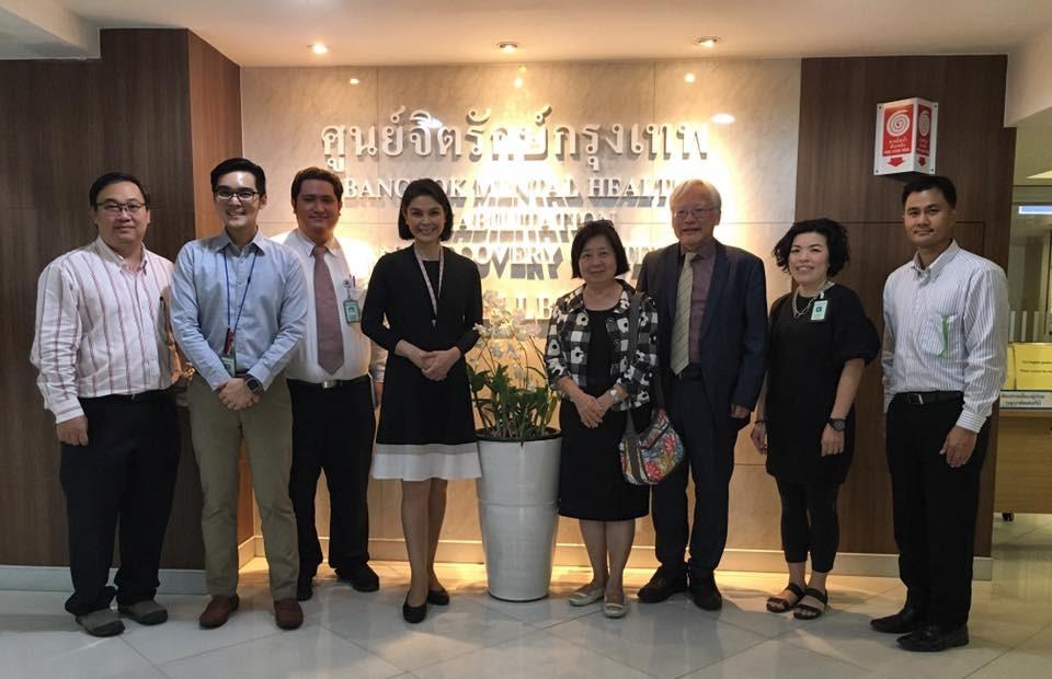 中心成員於曼谷精神健康重建中心合影