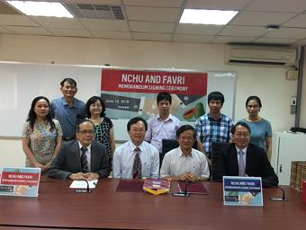 2017.12.07 興大與越南農科院簽訂學術交流與合作協議