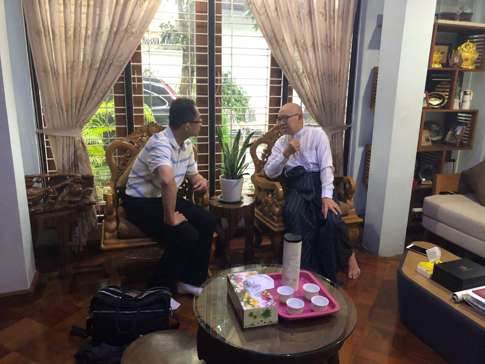2019.09.21 拜會UMFCCI副主席Dr.Myo Thet大使。